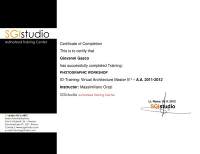 photography training certificate