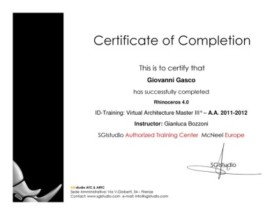 rhinoceros training certificate