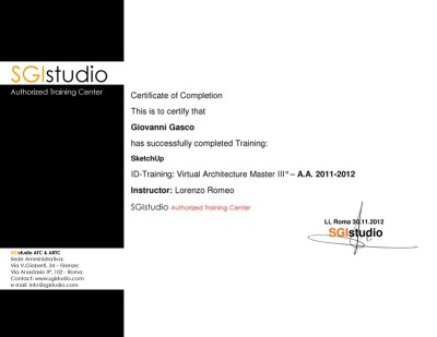 sketchup training certificate