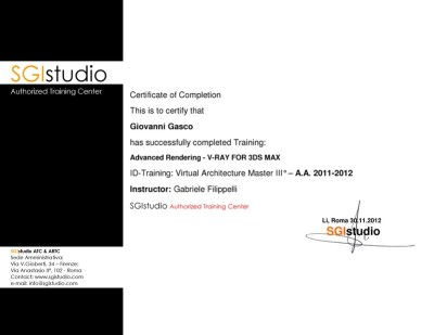 vray training certificate